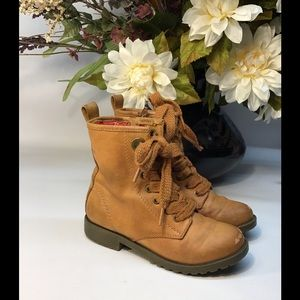 🌻Vegan leather boots girl size 1 target brand